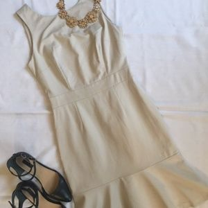 Sleeveless nude sheath dress